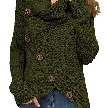 Sweater - Cowl Neck Green