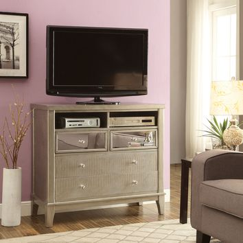 Marynna Contemporary Style Mirror Panel Media Chest