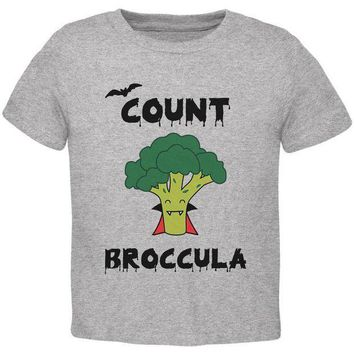 PEAPGQ9 Halloween Vegetable Broccoli Count Broccula Dracula Funny Toddler T Shirt