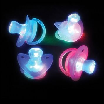 LED Light Up Pacifier : Multicolored Flashing Binky