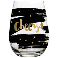 "SLANT COLLECTIONS ""CHEERS"" STEMLESS WINE GLASS"