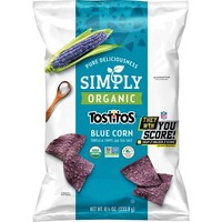 Simply Tostitos Blue Corn Tortilla Chips, Organic, 8.25 Oz - Walmart.com