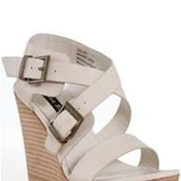 London Rag Wedge Sandals in Cream 1114-45