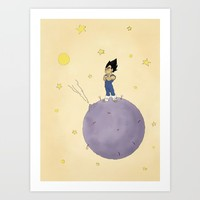 The Little Prince Of Saiyans Art Print by Agu Luque