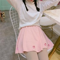 Peach soft skirt YV473