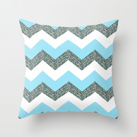 Beachy Throw Pillow by Pink Berry Pattern | Society6