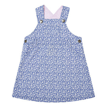 Ditsy Dungaree Dress