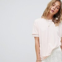 Free People Relaxed Double Layer Jersey T-Shirt at asos.com
