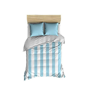 Light Blue Thick Stripes Small Comforter