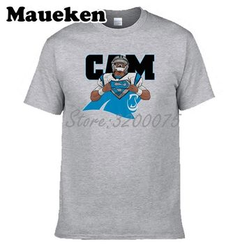 Men Cam Newton 1 is superCam mvp Carolina T-shirt Clothes T Shirt Men's tshirt for Panthers fans gift o-neck tee W17112601