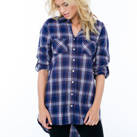 Forever Flannel Button-Up Tunic GoJane.com