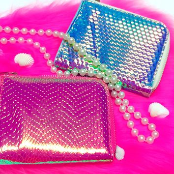 HOLOGRAPHIC MERMAID WALLETS