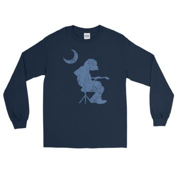 WSP DISTRESSED Mikey Houser Seated Palmetto Moon Long Sleeve T-Shirt