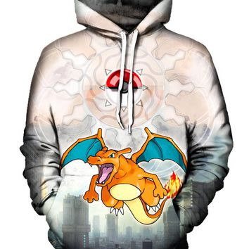 Charizard Appeared Pokemon Go Pullover Hoodie