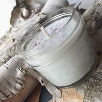 Cotton Candy scented Soy Candle - Fluorescent Soy Candle -- 4 ounce Mason Jar