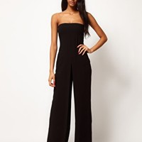 ASOS Bandeau Jumpsuit In Crepe at asos.com
