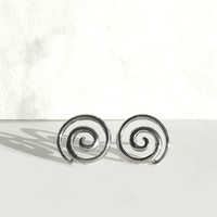Sterling Silver Spiral Earrings, Spiral Stud Earrings, Celtic Earrings, Studs, Celtic Silver Jewelry from Europe, Germany by Artida