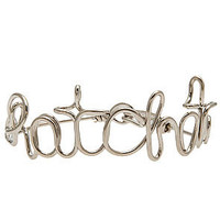 O-Mighty The Exclusive Ratchet Bracelet in Silver Script : Karmaloop.com - Global Concrete Culture