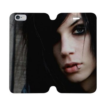 ANDY SIXX BLACK VEIL BRIDES Wallet Case for iPhone 4/4S 5/5S/SE 5C 6/6S Plus Samsung Galaxy S4 S5 S6 Edge Note 3 4 5