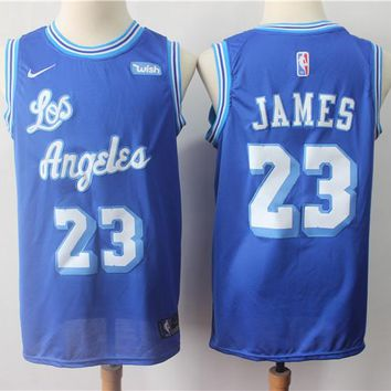 Los Angeles Lakers #23 Lebron James Royal Blue Classic Anniversary Basketball Jerseys - Best Deal Online