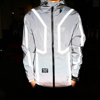 Lined 3M Reflective Windbreaker