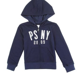 Girls aéropostale 4-6x french terry zip hoodie with glitter patch logo
