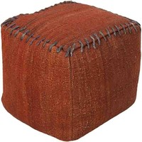 Woodstock Pouf ~ Bright Red