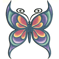 BUTTERFLY 25 Temporary Tattoo 2x2