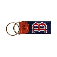 Boston Red Sox Needlepoint Key Fob in Navy by Smathers & Branson