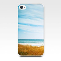 iphone 4 4s iphone 5 case nautical decor beach scene photography fine art photo coastal ocean summer cover cell phone golden teal