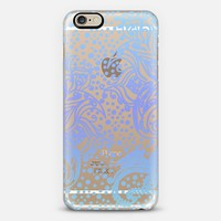 BOHO WINTER PAISLEY IN BLUES- CRYSTAL CLEAR PHONE CASE iPhone 6 case by Nika Martinez | Casetify