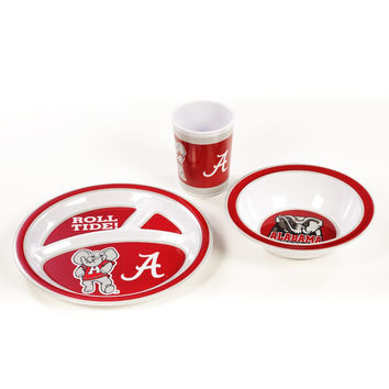 Alabama Crimson Tide Kid's 3 Pc. Dish Set