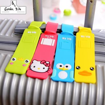Funky Travel Luggage Label Straps Luggage Tag 2016 For Cartoon Silicone Suitcase Korean Style Name ID Address Tags Luggage Tag
