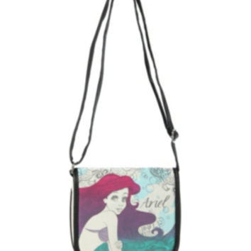 Disney The Little Mermaid Canvas Crossbody Bag