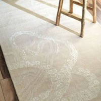 Sierra Octopus Tail Ivory Rug | Contemporary Rugs