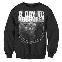 A Day To Remember: Broken Record Crew Neck Sweatshirt