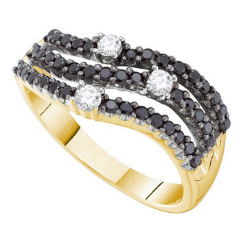Black Diamond Fashion Band in 14k Gold 0.54 ctw