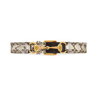 Gucci Snakeskin belt with Horsebit