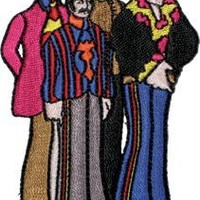The Beatles Yellow Sub Submarine Band Members Embroidered Iron On Patch p1406