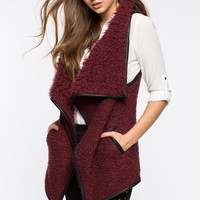 Cozy Up Drape Front Vest