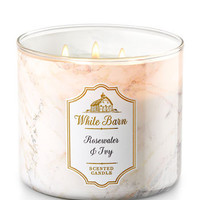 ROSEWATER & IVY3-Wick Candles