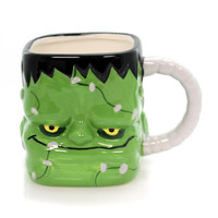 Tabletop FRANKENSTEIN SHAPED MUG Ceramic Halloween Monster 175538