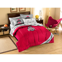 Ohio State Buckeyes NCAA Bed in a Bag (Contrast Series)(Full)