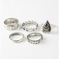 Silver Witch Moon Phase Ring 5 Pack - Spencer's