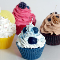 Soy/Paraffin Variety Scented Cupcake Candles (4)