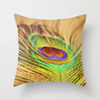 Feathered Finery Throw Pillow by Lisa Argyropoulos