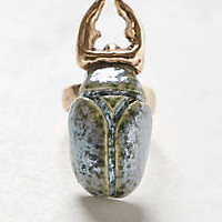 Anthropologie - Glazed Scarab Ring