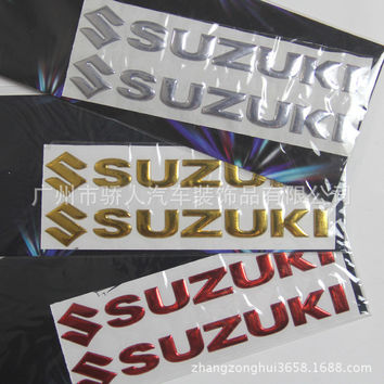 Motorcycle Automotive decorative applique soft 3D three-dimensional sign for Suzuki car personality reflective stickers