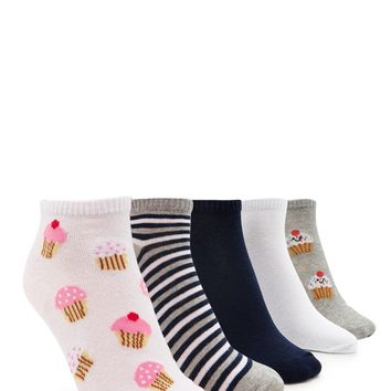 Cupcake Ankle Socks - 5 Pack