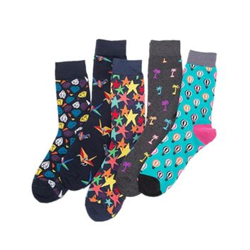 Colorful dress socks men happy sock men's classic tide cotton socks hiphop skateboard sock